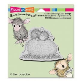 Stampendous - House Mouse Easter Egg Nap - Cling Rubber Stamp - HMCV12